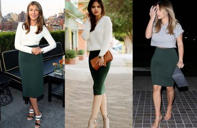 Use Eye-catching Techniques to Wear a Pencil Skirt